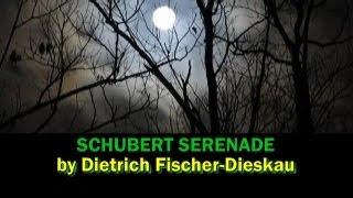 Schubert Serenade - Fischer-Dieskau, with lyrics & English translation subtitles