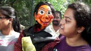 Dinku the famous puppet joins our protest to STOP road widening !