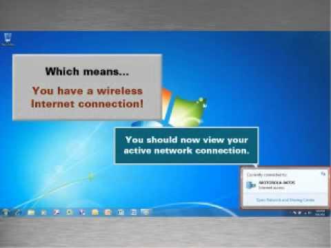 SBG6580 Video Tutorial: Windows 7 Wireless Connection