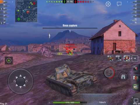 World of Tanks Blitz - FCM 50t: careful play on Vineyards