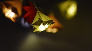 Beautiful Origami Lights Tutorial