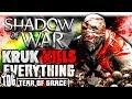 THE IMMORTAL KRUK KILLS EVERYTHING | Middle Earth: Shadow Of War   SHADOW WARS