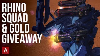 The Rhino Squad + Gold Giveaway / War Robots VØX Clan Live Stream