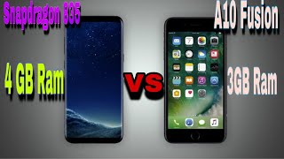 Iphone 7 plus vs Samsung galaxy S8 plus speed test / which one is faster ?