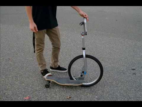 Half bike / half skate board...this is cool.