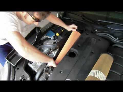 Замена воздушного фильтра Mercedes E320 CDI w211, видео