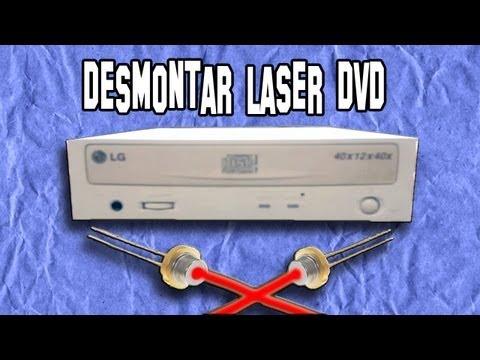 Como Desmontar un Diodo Laser de un Lector de DVD | Experimentos Caseros