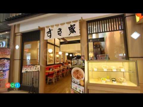บรรยากาศภายนอกร้าน Sukiya Japanese Restaurant Gateway Ekamai.mp4