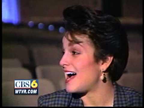 Jan. 1992 - Olympic champion Mary Lou Retton speaks at JR Tucker High School in Henrico County