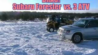 DRAG: Subaru Forester  vs. ATV  vs. ImprezaWRX. Full version