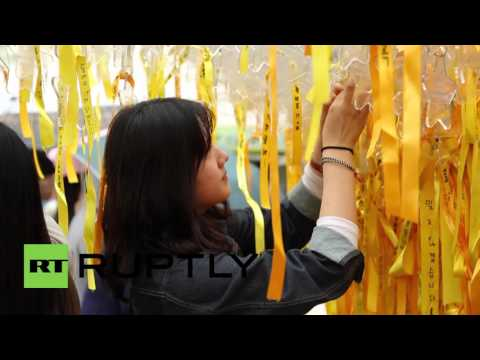South Korea: Protesters mark anniversary of ferry disaster that killed 304