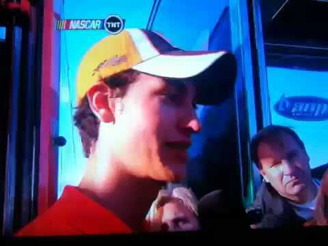 Joey logano Kevin harvick pocono Video