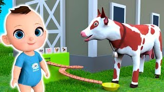 Farm Animals with Mike - Feed the Cow and Pigs Videos for Kids Children