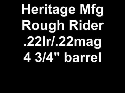 Heritage Rough Rider .22lr / .22mag at the range