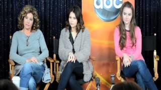 "Nancy Travis / Girls on the set of ABC's ""Last Man Standing"""