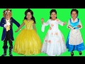 7 Halloween Costumes Disney Princess Belle and Beast from Beauty and the Beast Movie part 1