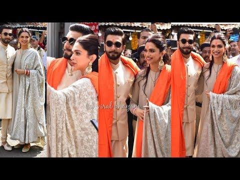 Deepika Padukone and Ranveer Singh happy at Sidhivinayak Mandir first time after their Marriage