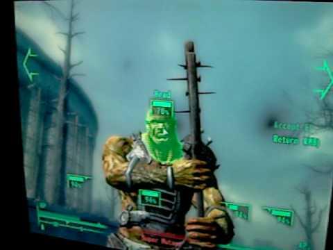 Fallout 3 - Super Mutant tué à coup de nounours