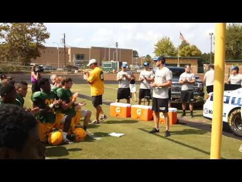 Johnson surprises high school football team