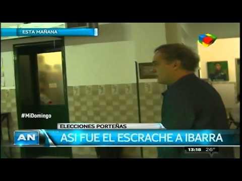 Aníbal Ibarra sufrió un escrache al votar