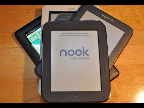 "New Barnes & Noble Nook ""Simple Touch"": Review (Nook vs Kindle)"