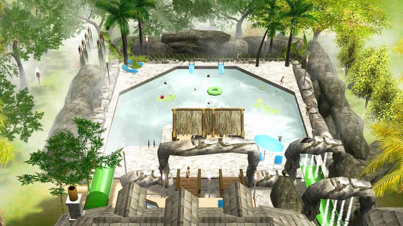The Biggest Backyard Pool Ever : Coolest Backyard Pool Ever!!  YouTube