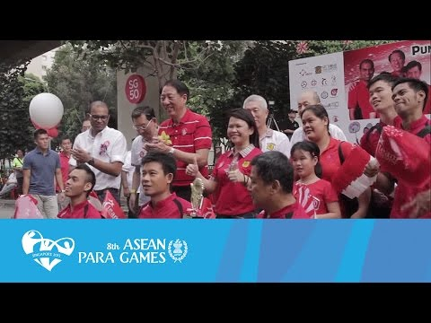 Team Singapore Para Athletes @ Punggol North Street Parade 2015