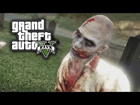 GTA V Online - APOCALIPSIS ZOMBIE!! Matanza En el Cementerio - Funny Moments GTA 5