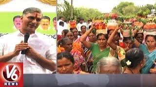 Minister Harish Rao Fires On AP CM Chandrababu Naidu Over Kaleshwaram Project   V6 News