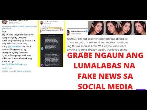 Maine Mendoza Latest Update& 39;s Sa Mga Naglalabasan Fake News Sa Social Media!!!!!!