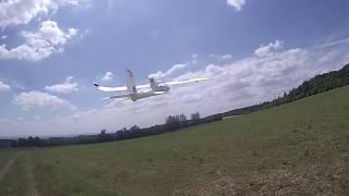 Beta 1400 ukázka letu s GoPro Hero na hlavě
