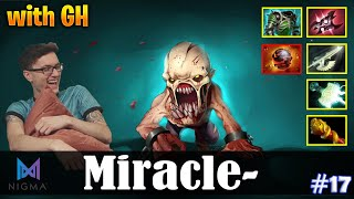Miracle - Lifestealer Safelane | with GH (Mirana) | Dota 2 Pro MMR Gameplay #17