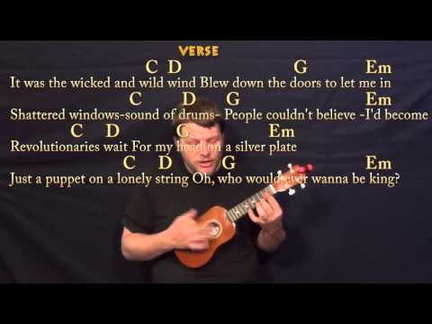 Viva La Vida (Coldplay) Soprano Ukulele Cover Lesson with Chords, Lyrics