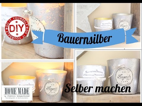 How To I Shabby Chic Windlichter I Matter Bauernsilberlook I Deko Inspirationen Selbstgemacht