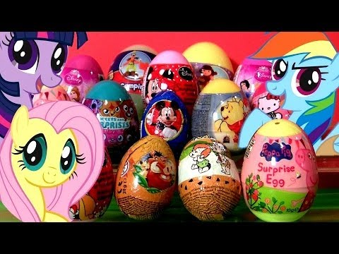 14 Surprise Eggs My Little Pony MLP Peppa Pig Minnie Mouse Dora the Explorer Hello Kitty Mickey