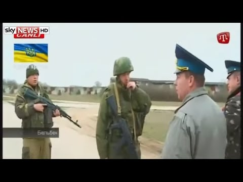 Russian Troops Fire Shots Over The Heads Of Ukrainian Air Force Personnel In Belbek Crimea video