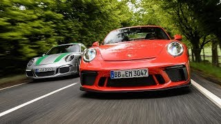 Porsche 911 R vs 911 GT3 manual l Top Gear