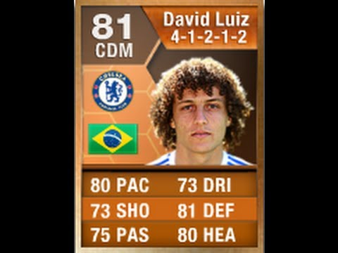 FIFA 13 MOTM DAVID LUIZ 81 AS STRIKER Review & In Game Stats Ultimate Team