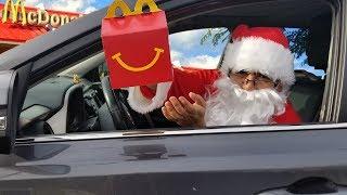 McDonalds Drive Thru Prank! Santa Clause's surprise visit to Jai Bista Show