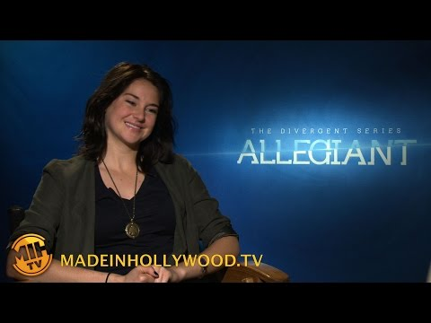 Shailene Woodley Uncut interview The Divergent Series: Allegiant