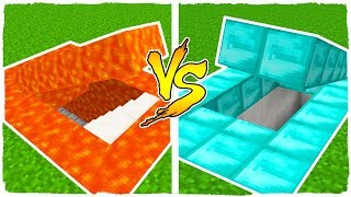 🤘 BÚNKER SECRETO DE LAVA VS BÚNKER SECRETO DE DIAMANTE EN MINECRAFT