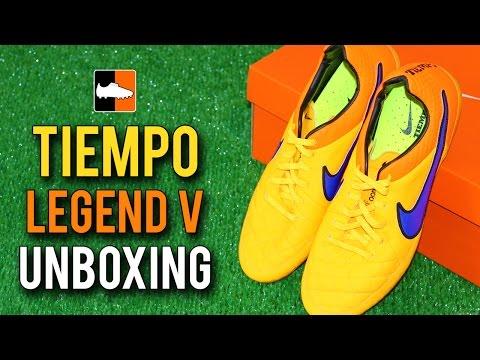 Nike Orange/Purple Tiempo Legend V Unboxing - Andrea Pirlo & Sergio Ramos' Football Boots