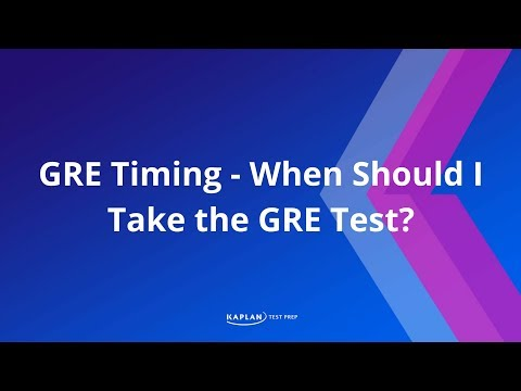 When should I take the GRE test?