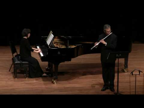 Bach Sonata in e minor  BWV 1034 First Mov. Marco Granados, flute; Jeongeun Yom, piano