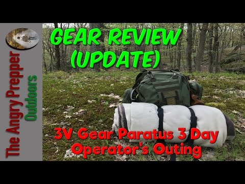 Gear Review (Update): 3V Gear Paratus 3 Day Operator's Pack Outing