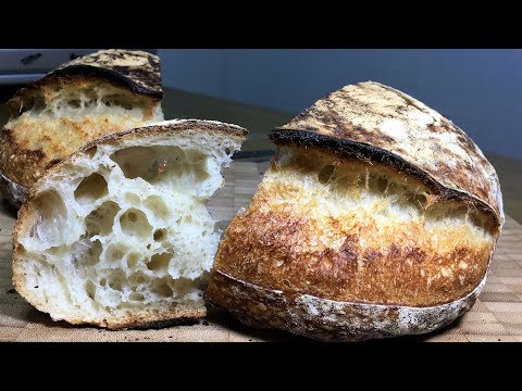 How to make White Sourdough Bread_Wild Yeast Starter Leaven_Country Bread Tartine Bread