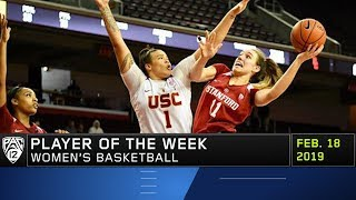 Alanna Smith named Pac-12 Women's Basketball Player of the Week after posting double-doubles in...