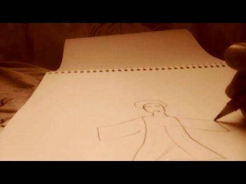 Видео как нарисовать китайскую девушку