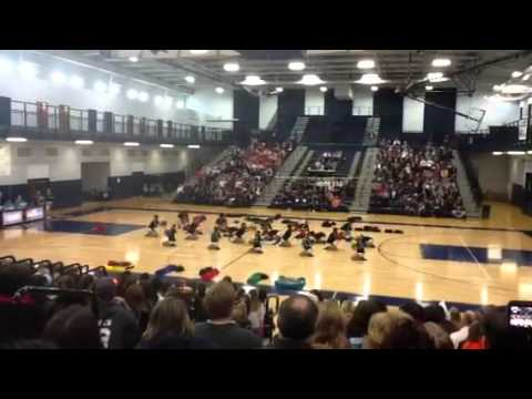 "Glenbard North High School ""Poms"" routine 2/5/12"