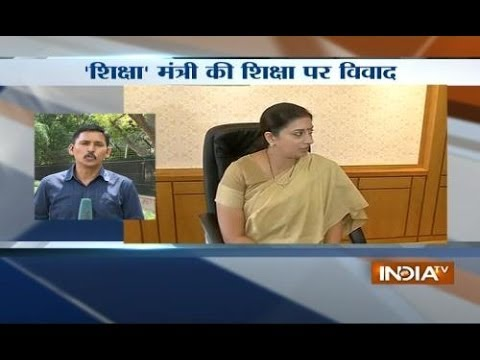 Controversy over Smriti Irani's educational qualification